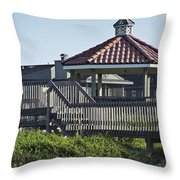 Pelican Weathervane Ocean Isle Norht Carolina Throw Pillow