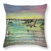 Pelicans Fly Psalm 139 Throw Pillow