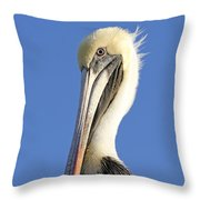 Pelican's Good Side Throw Pillow