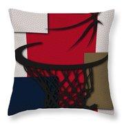 Pelicans Hoop Throw Pillow