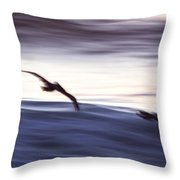 Pelicans Ocean Flight In La Jolla Throw Pillow