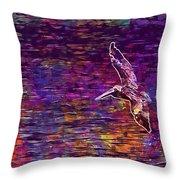 Pelikan Bird Brown Pelican  Throw Pillow