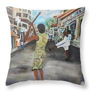 Pelota Callejera - Streetball Throw Pillow