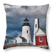 Pemaquid Point Lighthouse 4821 Throw Pillow
