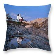 Pemaquid Point Lighthouse - D002139 Throw Pillow
