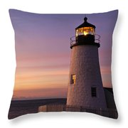 Pemaquid Point Lighthouse Throw Pillow