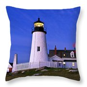 Pemaquid Point Lighthouse Maine Throw Pillow