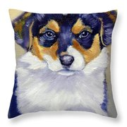 Pembroke Welsh Corgi Pup Throw Pillow