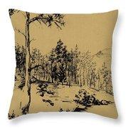 Colorado Landscape Throw Pillow