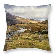 Pen Yr Ole Wen And Tryfan Mountain Throw Pillow