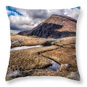 Pen Yr Ole Wen Mountain Throw Pillow