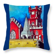 Pena Palace In Portugal Throw Pillow