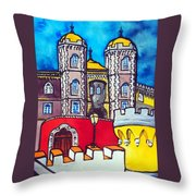 Pena Palace In Sintra Portugal  Throw Pillow