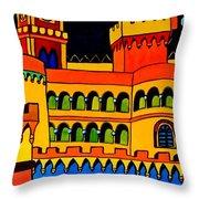 Pena Palace Portugal Throw Pillow
