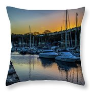 Penarth Harbour In Wales Throw Pillow