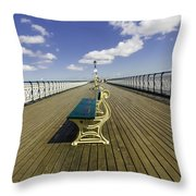 Penarth Pier 9 Throw Pillow