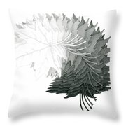 Pencil Drawing Of Maple Leaves Throw Pillow