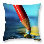 Pencil Drip Throw Pillow