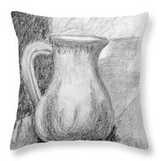 Pencil Pitcher Throw Pillow