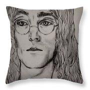 Pencil Portrait Of John Lennon  Throw Pillow