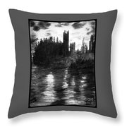 Pencil Sketch The Dolceaoque Castle Throw Pillow