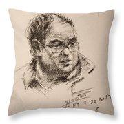 Sketch Man 8 Throw Pillow