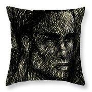 Pencilportrait 02 Throw Pillow