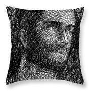 Pencilportrait 04 Throw Pillow