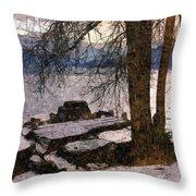 Pend D'oreille Lake 3 Throw Pillow