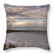 Pend D'oreille Lake Panorama Throw Pillow