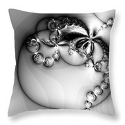 Pendant In Silver Throw Pillow