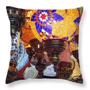 Pendants Bazaar Throw Pillow