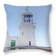 Pendeen Lighthouse Cornwall Throw Pillow