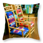 Pendleton Chairs Throw Pillow
