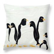 Penguins  -2 Throw Pillow