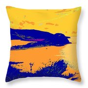 Peninsula Orange Throw Pillow
