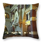 Penn Fine Arts Library Throw Pillow