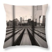 Penn Geometry Throw Pillow by Joanna Madloch