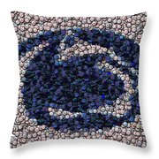 Penn State Bottle Cap Mosaic Throw Pillow
