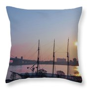 Penns Landing Sunrise Throw Pillow