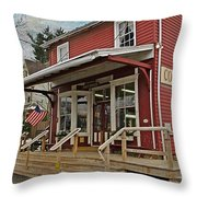Pennsdale Country Store Throw Pillow by Stephanie Calhoun
