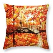 Pennsylvania Autumn Throw Pillow