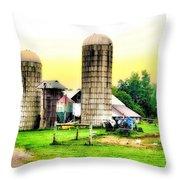 Pennsylvania Farming  Throw Pillow