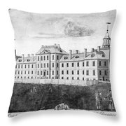 Pennsylvania Hospital, 1755 Throw Pillow