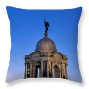 Pennsylvania Monument At Gettysburg Throw Pillow