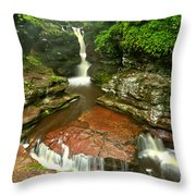 Pennsylvania Red Rock Falls Throw Pillow