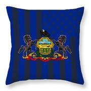 Pennsylvania State Flag Graphic Usa Styling Throw Pillow