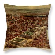 Pennsylvania Station 1910 Throw Pillow