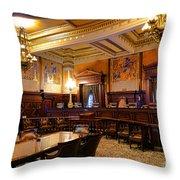 Pennsylvania Supreme Court  Throw Pillow