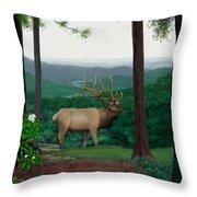 Pennsylvanian Elk Throw Pillow